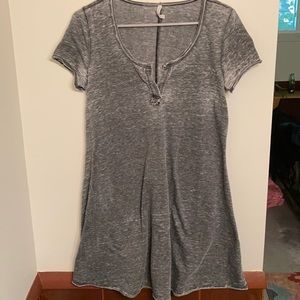 Z Supply Grey T-Shirt Mini Dress